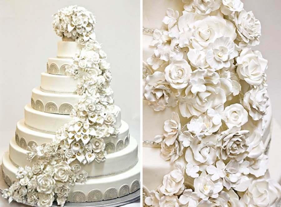 گاهای روی کیک عروسی