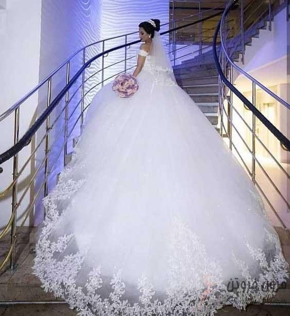 لباس عروس طرح پرنسسی
