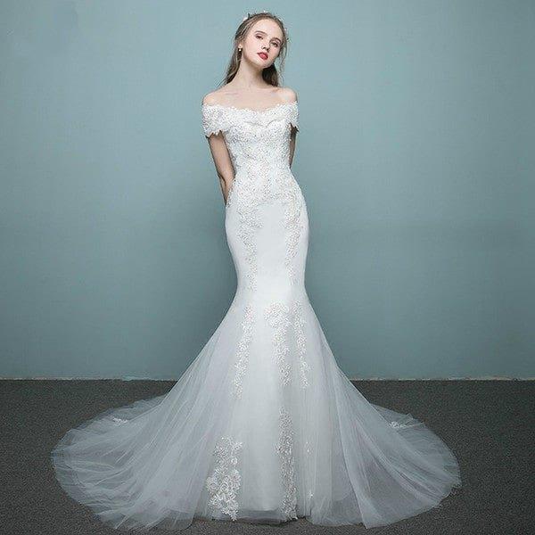 لباس عروس با مدل ماهی